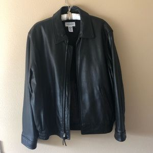 Joseph & Feiss Leather Jacket (Large Tall)